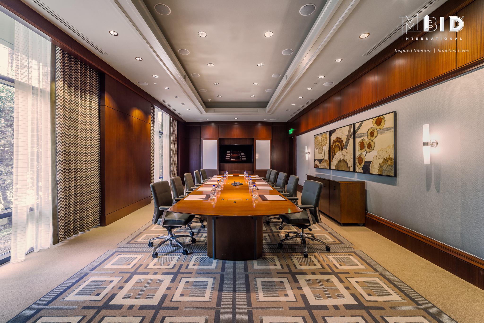Executive Boardroom Interior Design North Carolina Mbid International