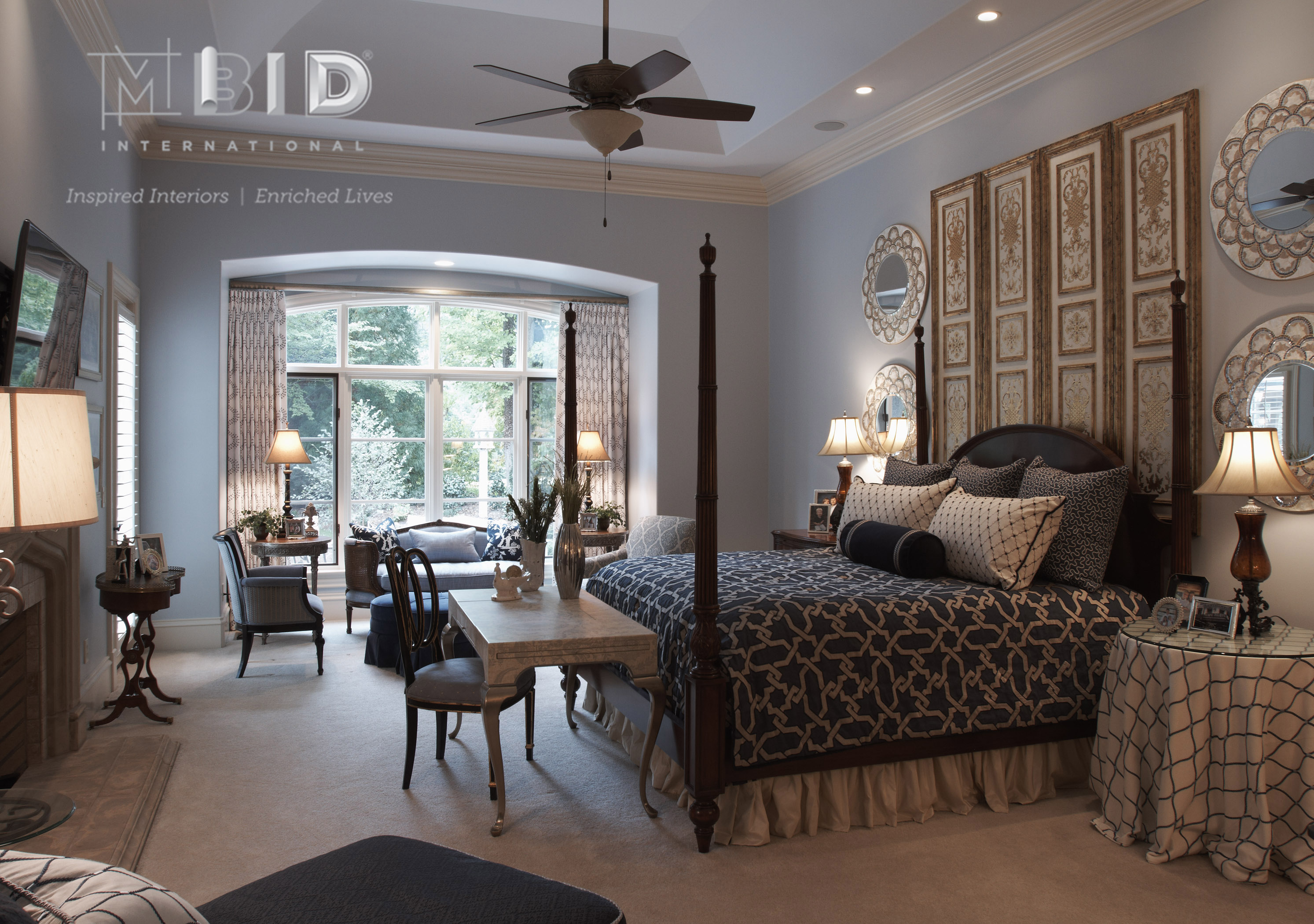 French Chateau Inspired Bedroom Resort Living at Home - MBID ...