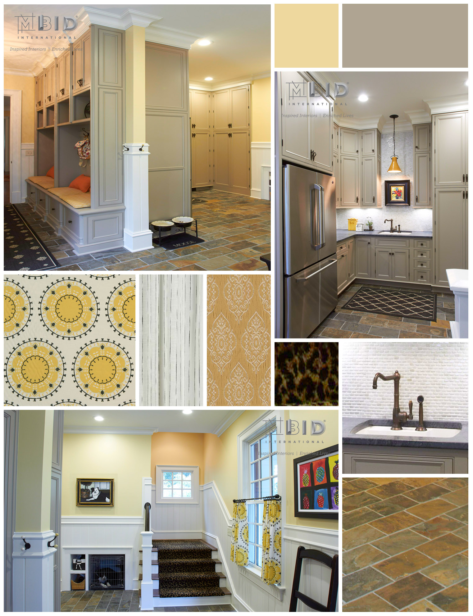 Cheerful Mudroom Interior Design Greensboro North Carolina Mbid International