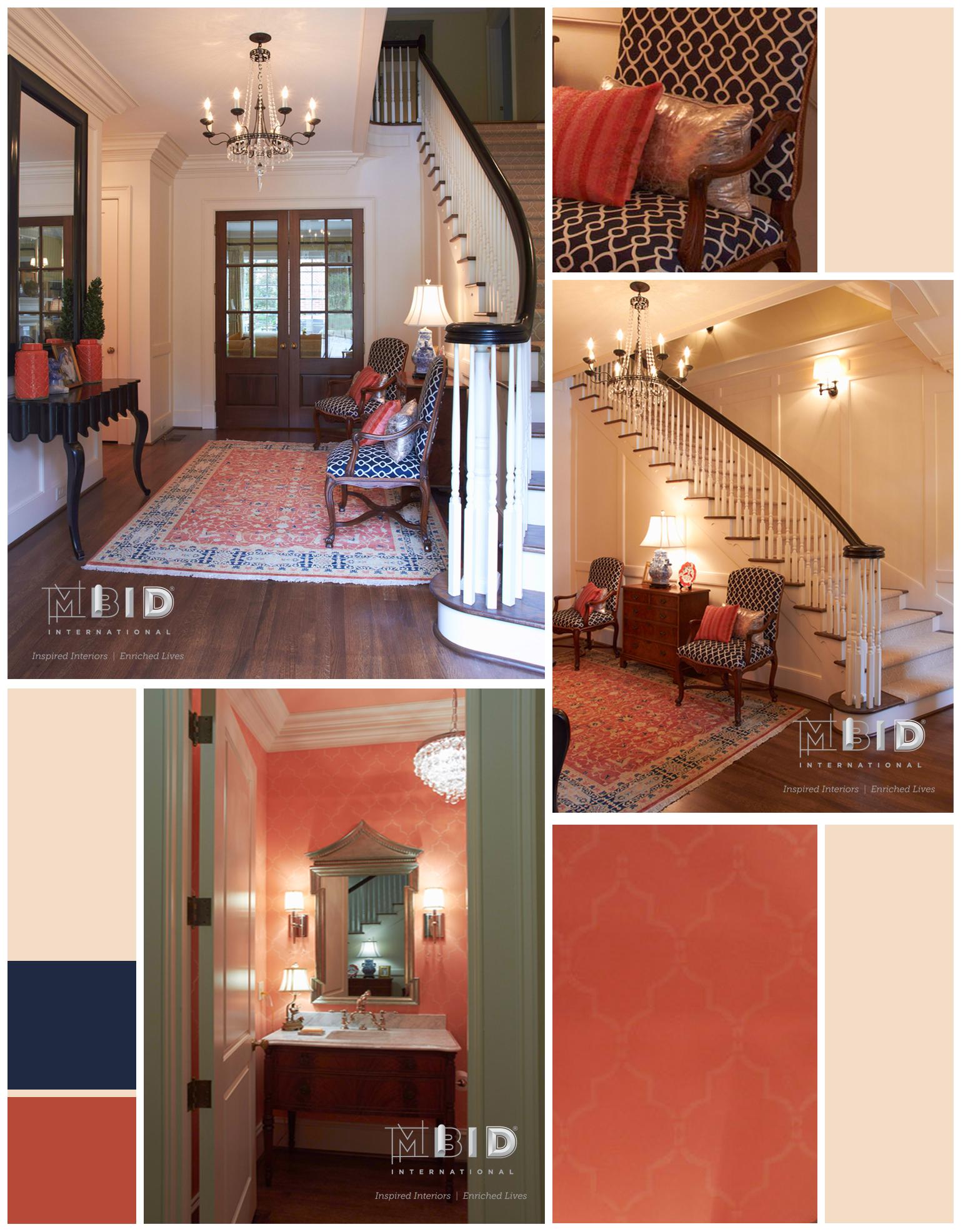 Grand Entry Foyer Greensboro NC Interior Design