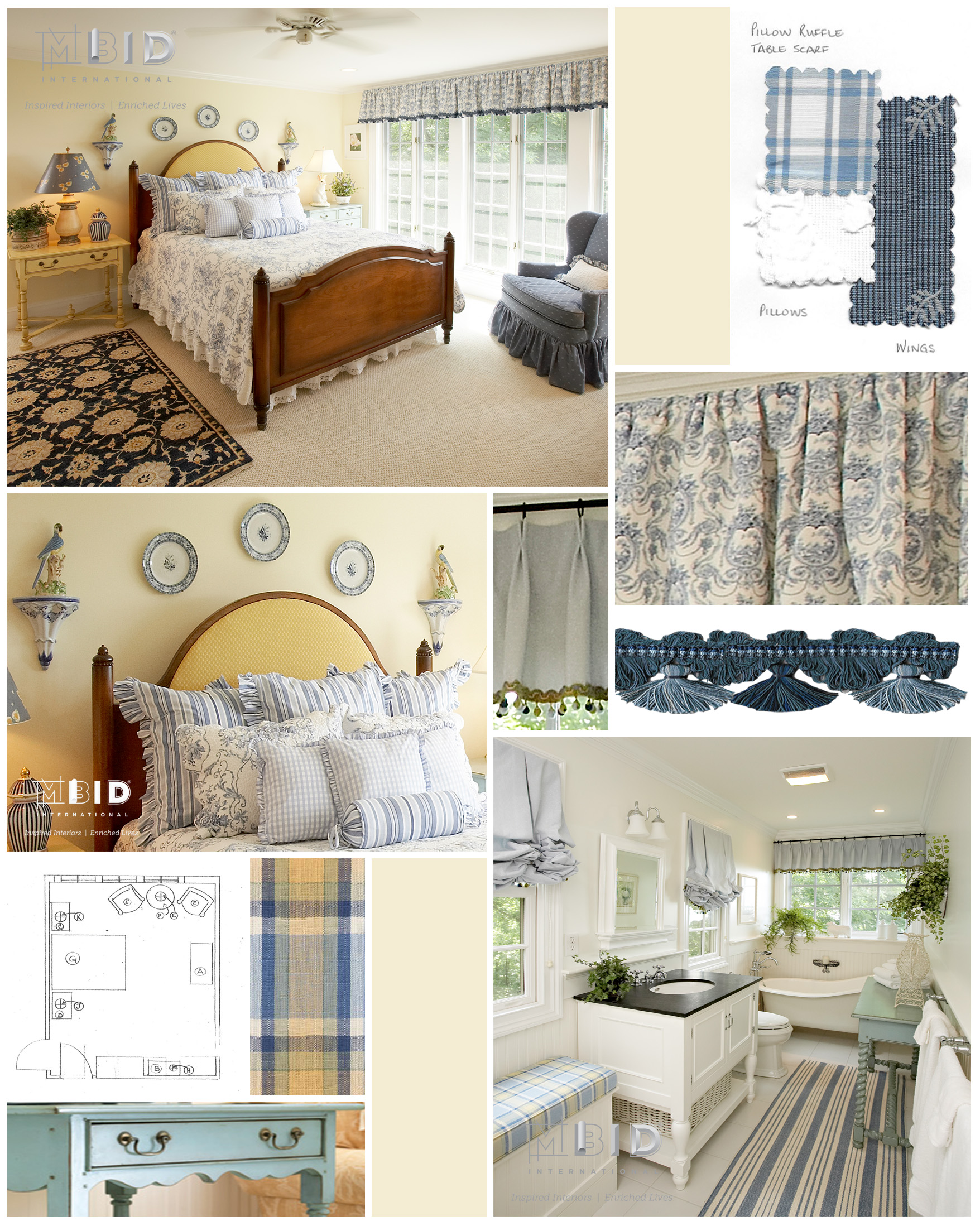 Guest Cottage Vacation Home Design North Carolina Blue and Yellow ...
