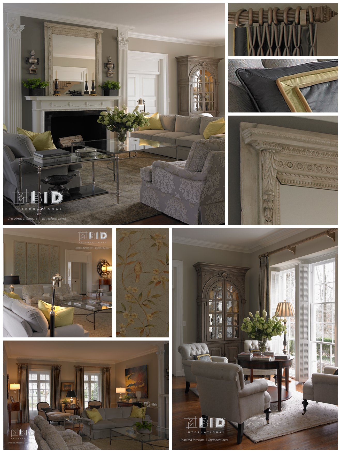 Historic Preservation Interior Design Greensboro Living Room Gray And Chartreuse