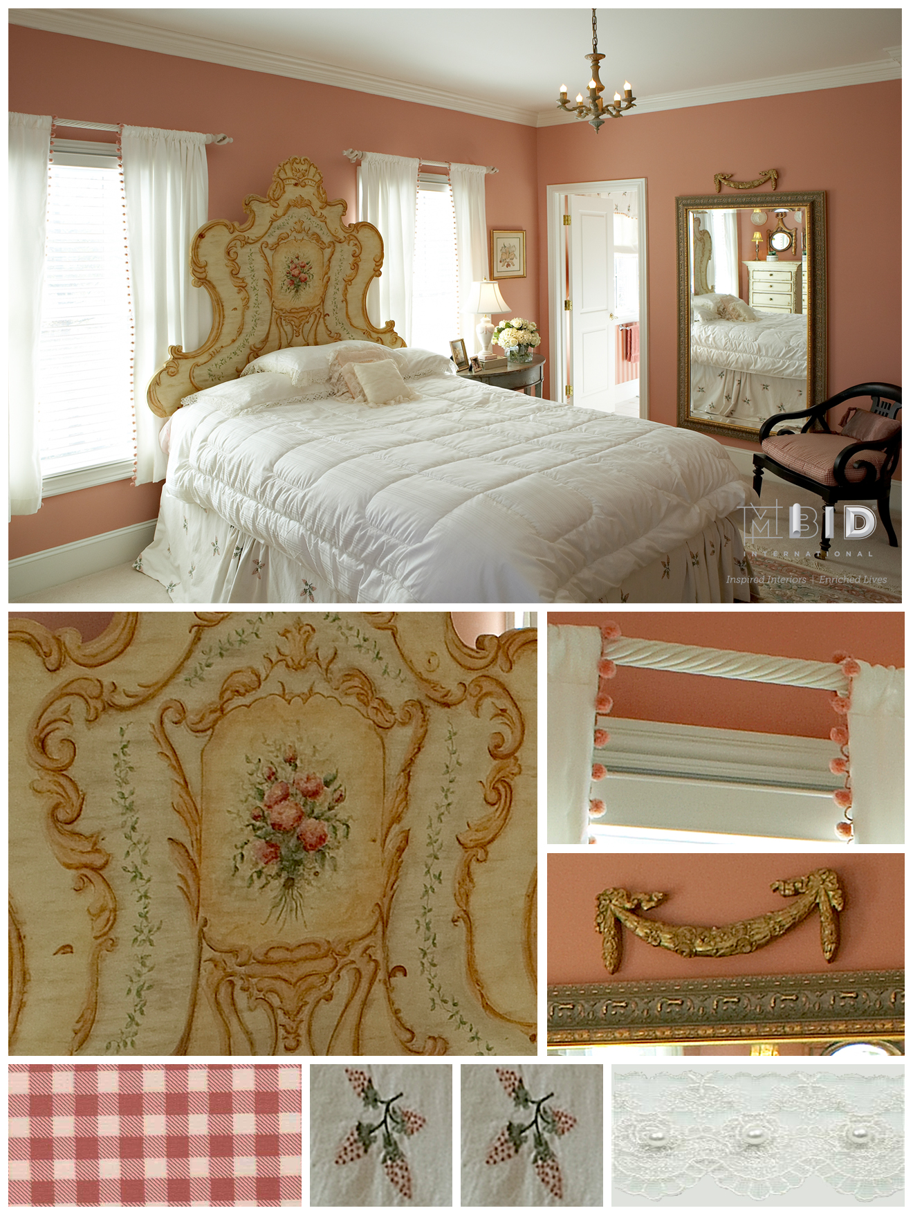 Rose Princess Girls Room Interior Design Greensboro NC
