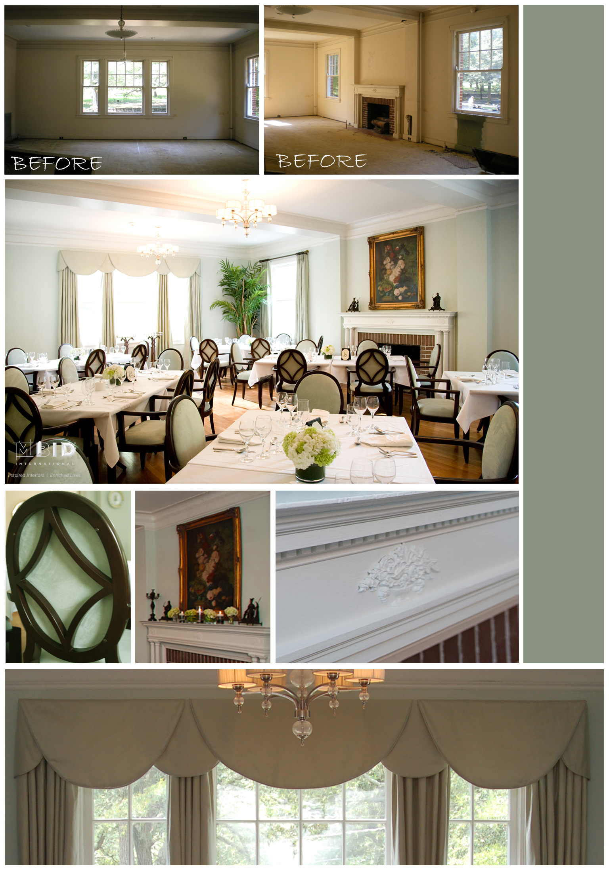 Historic Preservation Interior Design Boutique Hotel Dining Room North Carolina