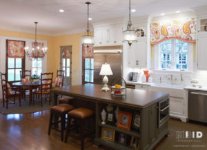 Colorful Spring Colors in White Kitchen Design