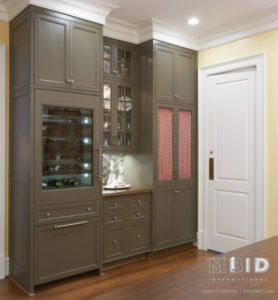 Dry Bar Design and Wine Fridge Custom Kitchen Greensboro